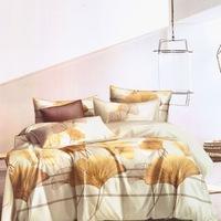 GGT- 7 részes pamut ágyneműhuzat fehér színben aranybarna mintával.