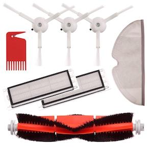 Kit accesorii Xiaomi Roborock pentru s50 s55: Filtru 2 buc + Perie tambur + Perie laterala 3 buc + mop de microfibra