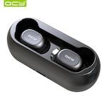 Безжични Слушалки QCY TWS T1C-RX с Външна Батерия за Зареждане, Bluetooth 5.0, Черен