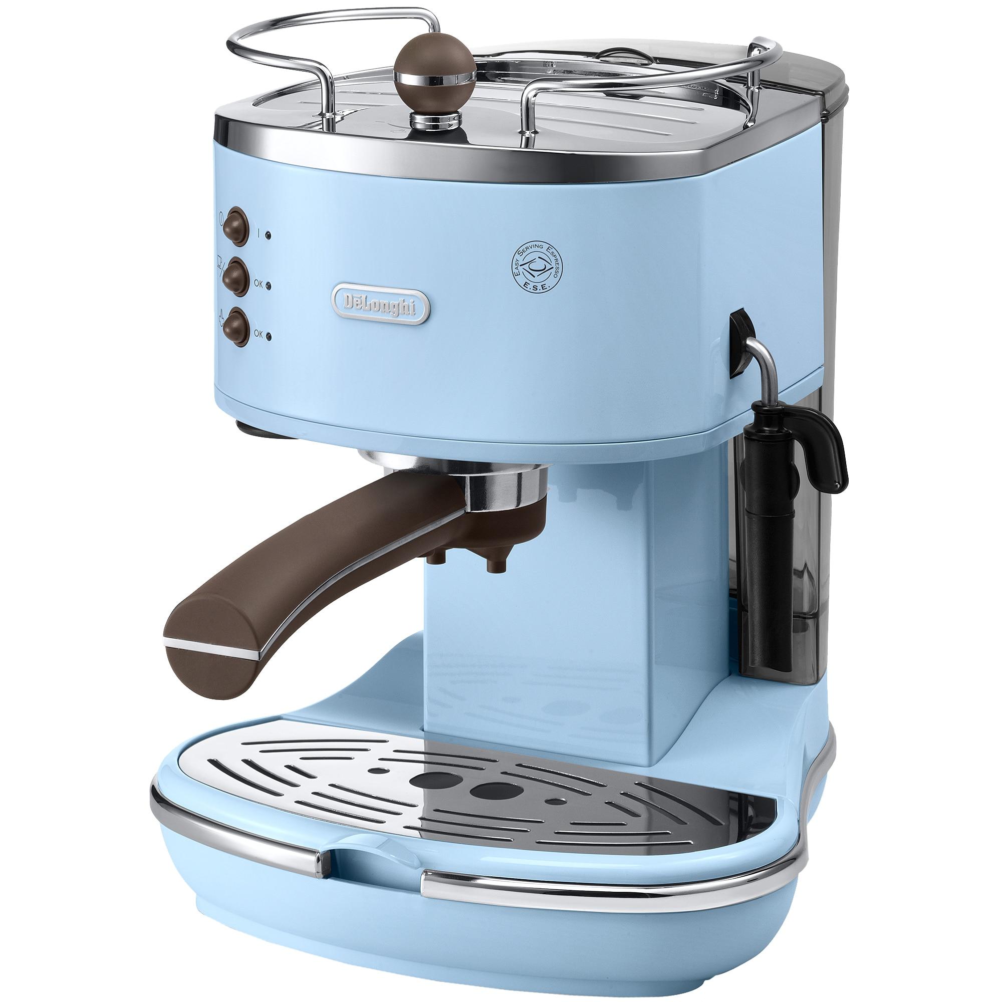Fotografie Espressor manual De'Longhi Vintage ECOV311.AZ, 15 bar, 1.4 l, Sistem Cappuccino, Bleu