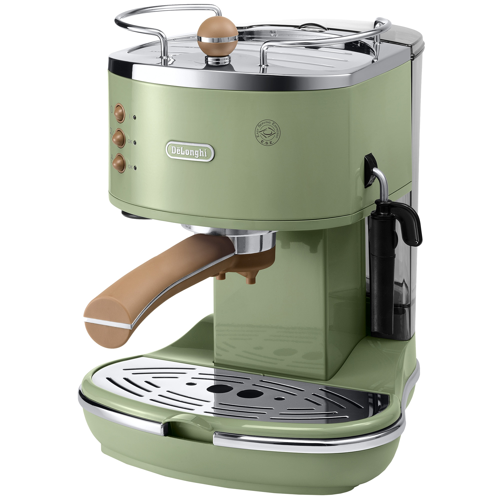 Fotografie Espressor manual De'Longhi Vintage ECOV311.GR, 15 bar, 1.4 l, Sistem Cappuccino, Verde