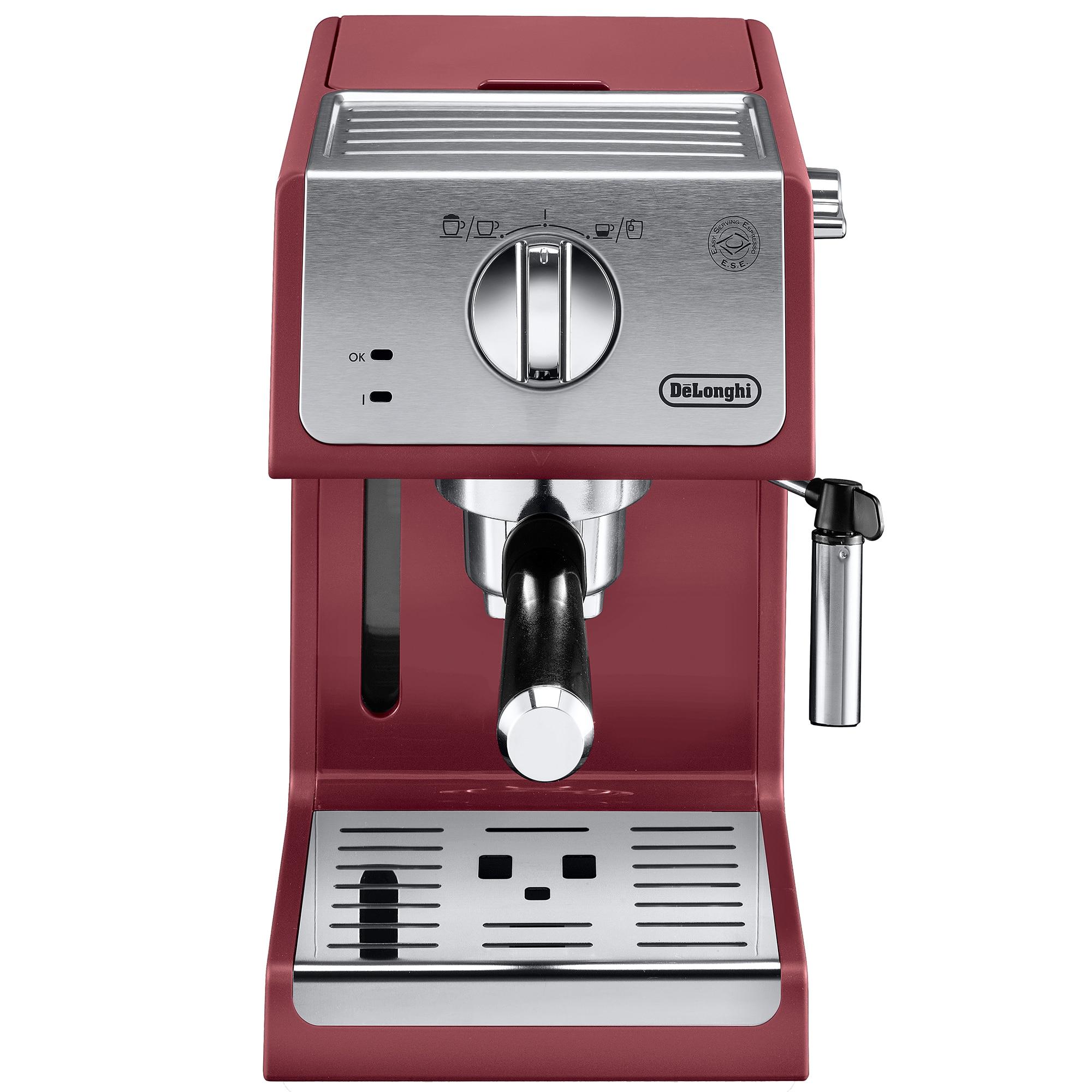 Fotografie Espressor manual DeLonghi Active line ECP33.21.R, 1100 W, 1.1 L, 15 bar, Sistem Cappuccino, Rosu
