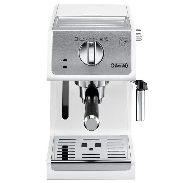 Fotografie Espressor manual DeLonghi Active line ECP33.21.W, 1100 W, 1.1 L, 15 bar, Sistem Cappuccino, Alb