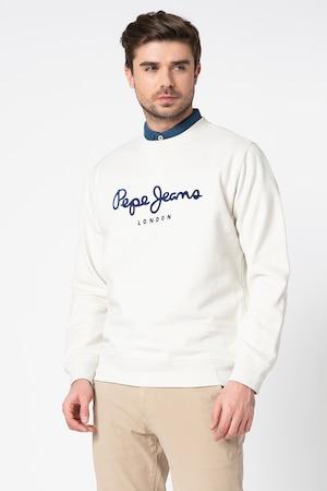 Pepe Jeans London, Суитшърт Albert със стандартна кройка, Мръснобял