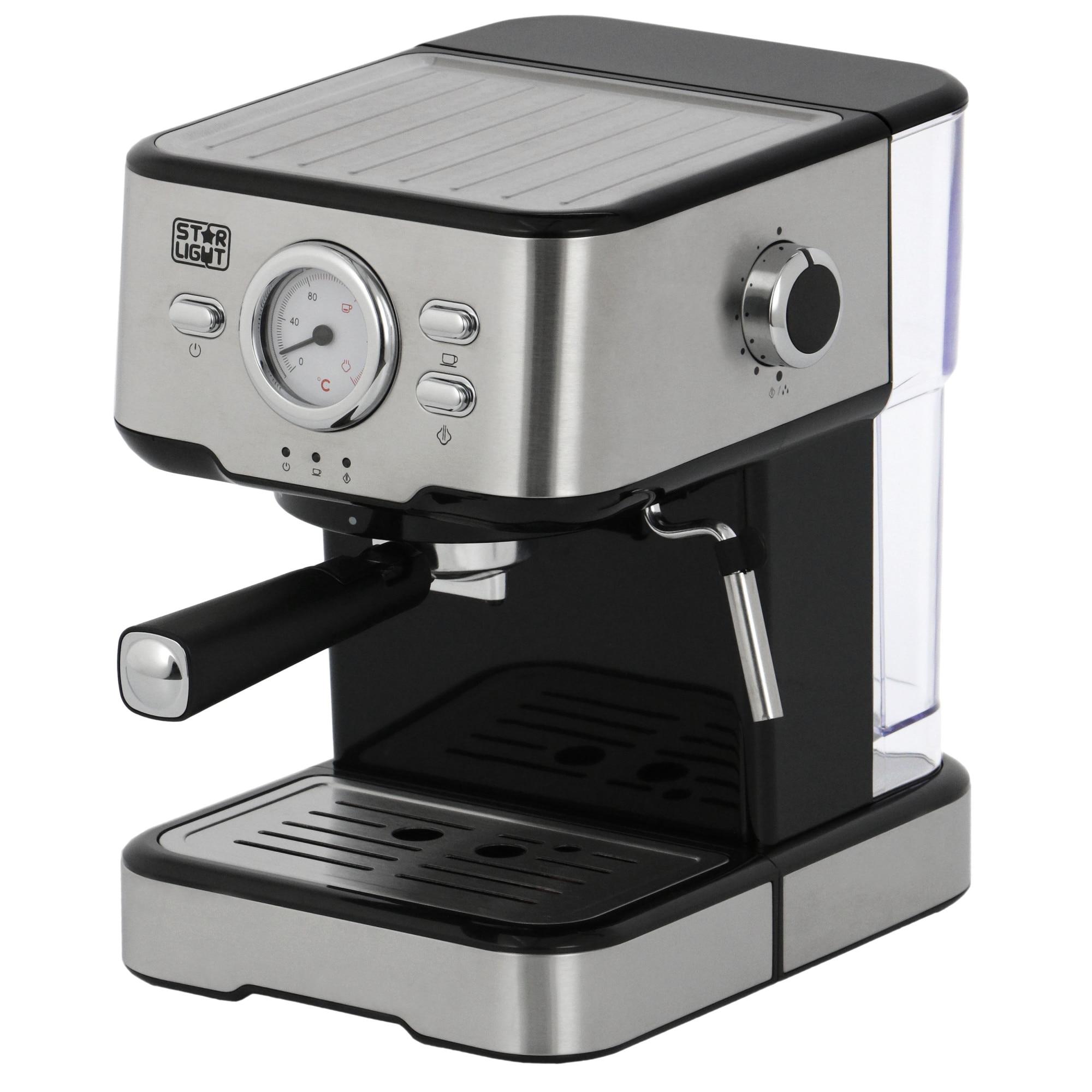 Fotografie Espressor manual Star-Light EMD-1511W, 15 Bar, 1100W, 1.5l, Inox