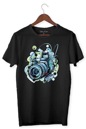 Тениска Фотографът, DeliCat, BG, Черна