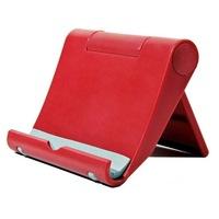 Сгъваема стойка за бюро за телефон или таблет, 8x10cm, пластмасова, червен цвят