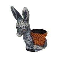 Ornament tip magarus, ceramica, 45hx35L, gradina/foisor/balcon, ornament/ghiveci, gri