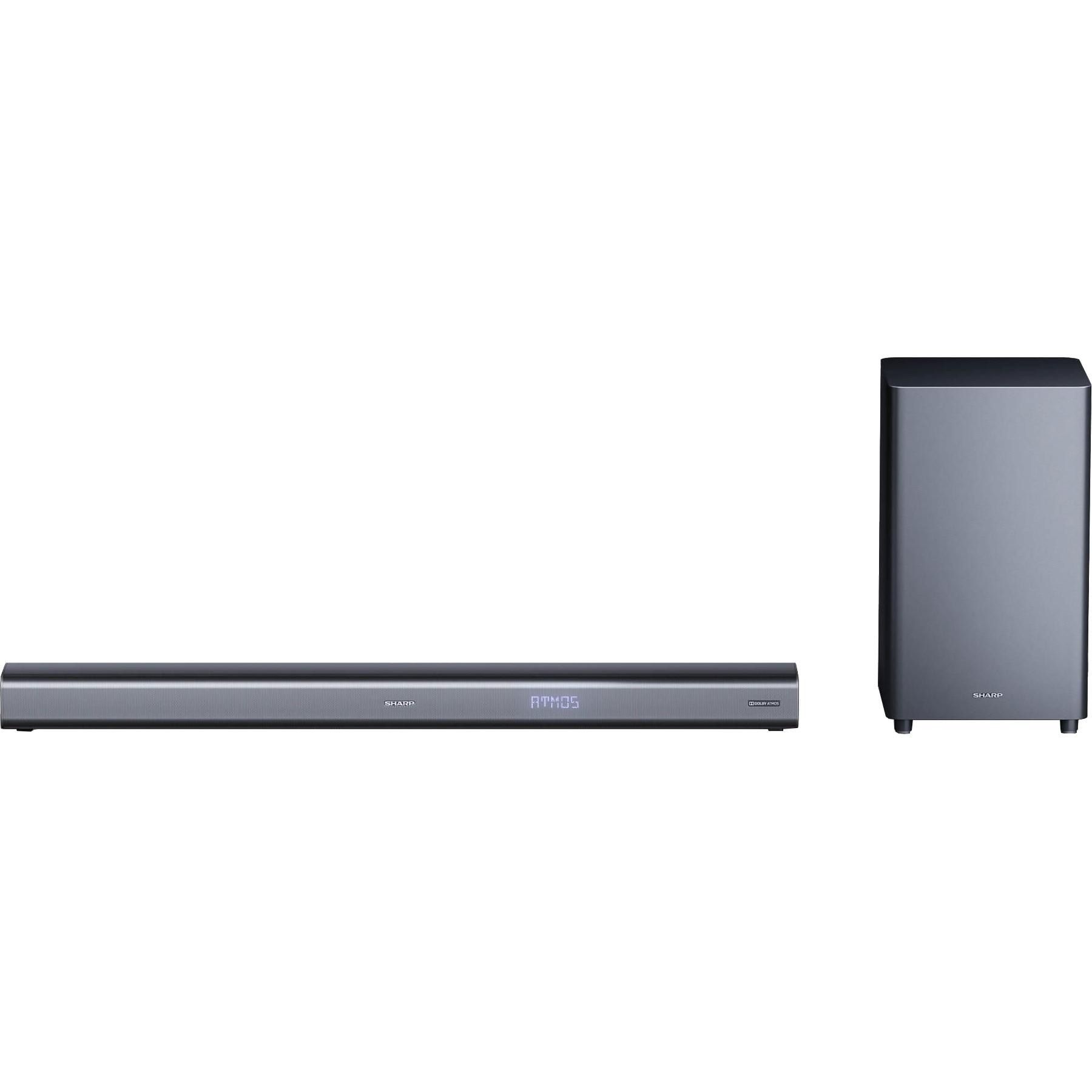 Fotografie Soundbar Sharp HT-SBW460, 3.1, Dolby Atmos, 440W, Virtual Surround Sound, Subwoofer wireless, Bluetooth, Negru