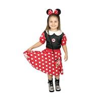 Детски карнавален костюм HuxyMascots Мини Маус, червен, размер 110