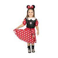 Детски карнавален костюм HuxyMascots Мини Маус, червен, размер 122