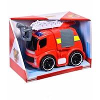 Camion de pompieri, Cali, cu sunete si luminite, rosu, pentru micul erou