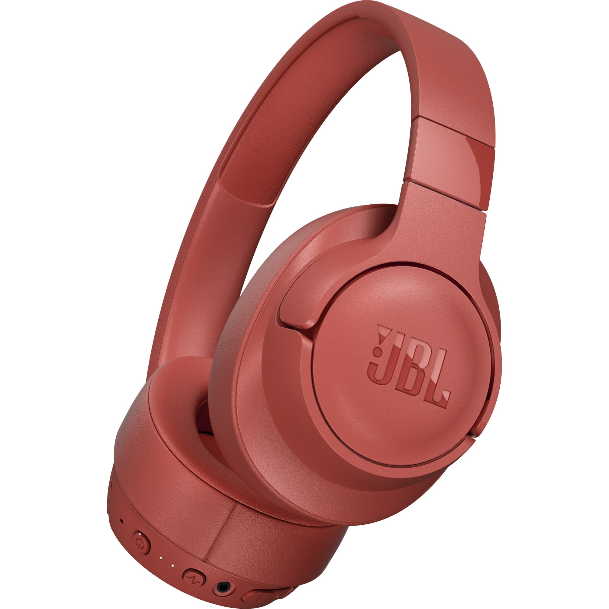 Fotografie Casti JBL TUNE 750, Active Noise Cancelling, Pure Bass, Hands-Free & Voice Control, Multi-Point Connection, Bluetooth Streaming, 15H Playback, Rosu