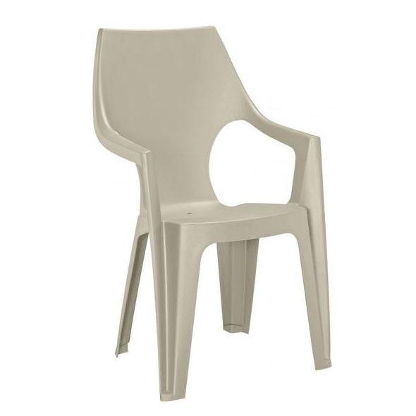Dante magastámlás műanyag kerti szék krém színben eMAG.hu