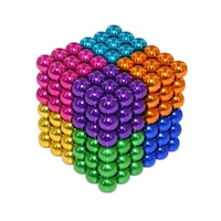 Zanox képességfejlesztő játék, Neocube 216 mágneses golyók, Multicolor, 8 szín, 5mm