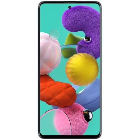Samsung Galaxy A51 Mobiltelefon, Kártyafüggetlen, Dual SIM, 128GB, LTE, Kék
