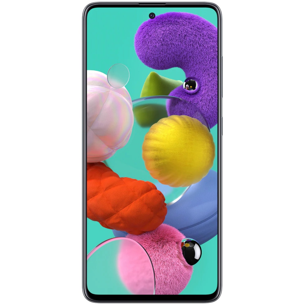 Fotografie Telefon mobil Samsung Galaxy A51, Dual SIM, 128GB, 4GB RAM, 4G, Prism Black