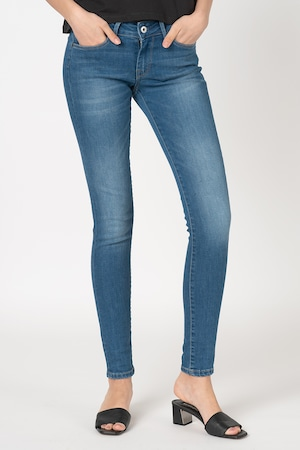 Pepe Jeans London, Soho skinny fit farmernadrág középmagas derékrésszel, Kék, W27-L32