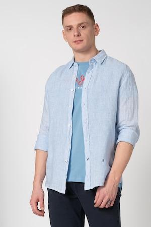Pepe Jeans London, Camasa regular fit Albert, Bleu