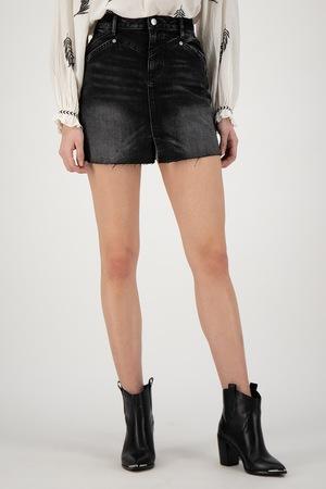Pepe Jeans London, Fusta din denim Emerald, Negru, XL