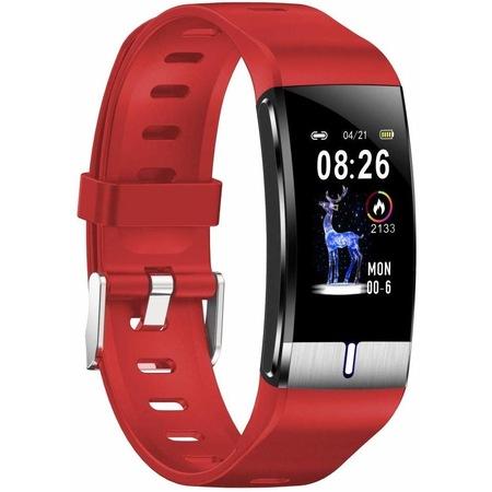 Bratara Fitness AIX , Ritm Cardiac , tensiunea arteriala , calorii , monitorizare somn , Rezistenta la apa, Alarma ,Curea Rosie