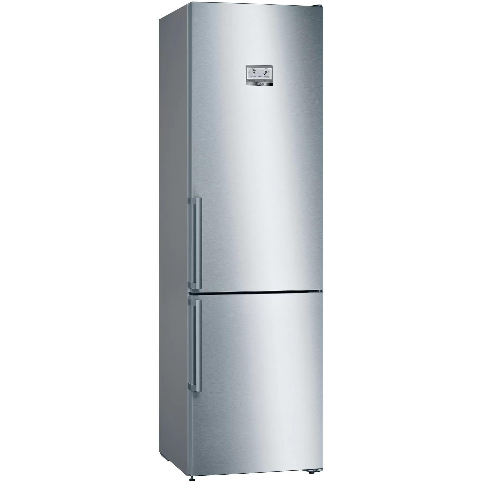 Fotografie Combina frigorifica Bosch KGN39HIEP, 368 l, Clasa E, NoFrost, VitaFresh, H 204 cm, Inox antiamprenta