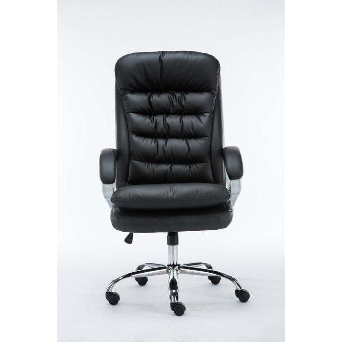 Vancouver extranagy teherbírású főnöki szék, fekete műbőr (235 kg ig) eMAG.hu
