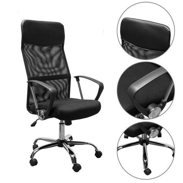 Timeless Tools Ergonomikus irodai szék magasított háttámlával, fekete eMAG.hu