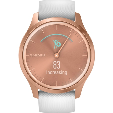 Часовник Smartwatch Garmin Vivomove Style, Rose Gold/White, Silicone Band
