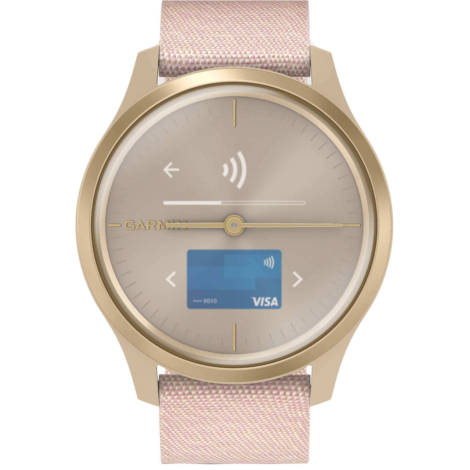 Fotografie Ceas Smartwatch Garmin Vivomove Style, Champagne/Dust Rose, Fabric Band