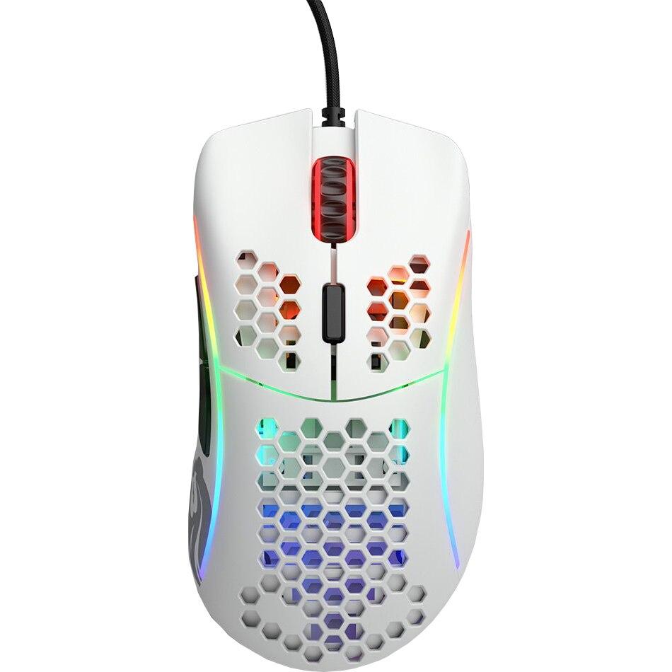 Fotografie Mouse gaming Glorious Model D, Ultrausor 68g, Alb Mat