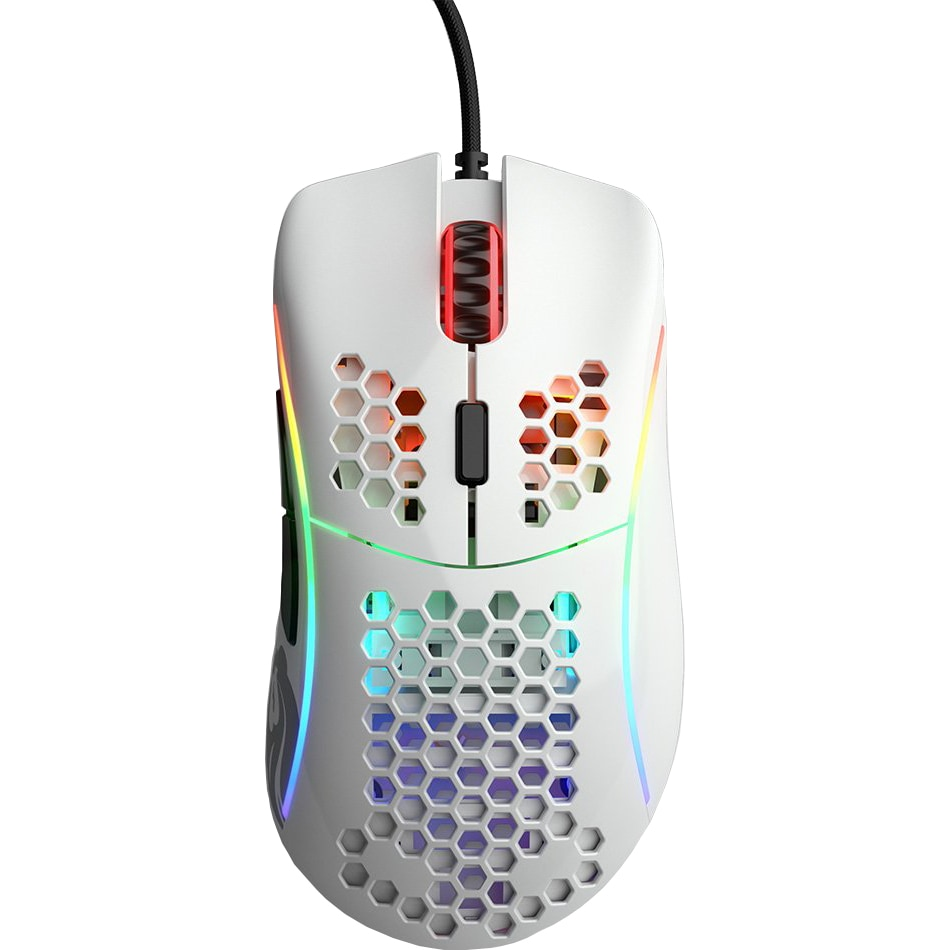 Fotografie Mouse gaming Glorious Model D, Ultrausor 69g, Alb Gloss