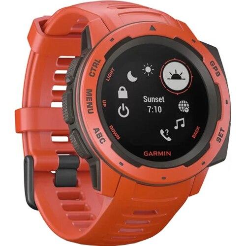 Fotografie Ceas Smartwatch Garmin Instinct, GPS, Rosu
