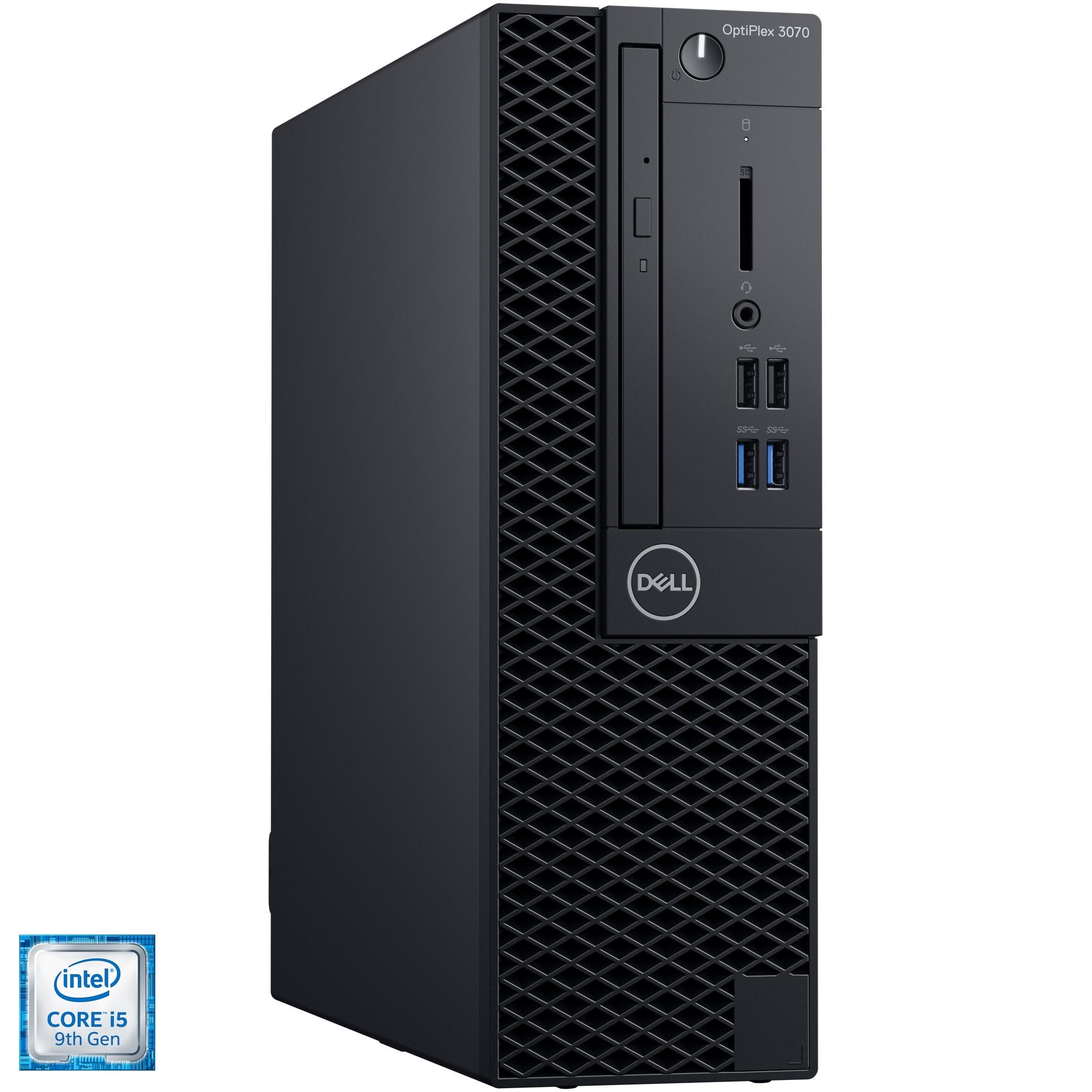 Fotografie Sistem Desktop PC OptiPlex 3070 SFF cu procesor Intel® Core™ i5-9500 pana la 4.40 GHz, Coffee Lake, 4GB, 1TB, Intel® UHD Graphics 630, Microsoft Windows 10 Pro