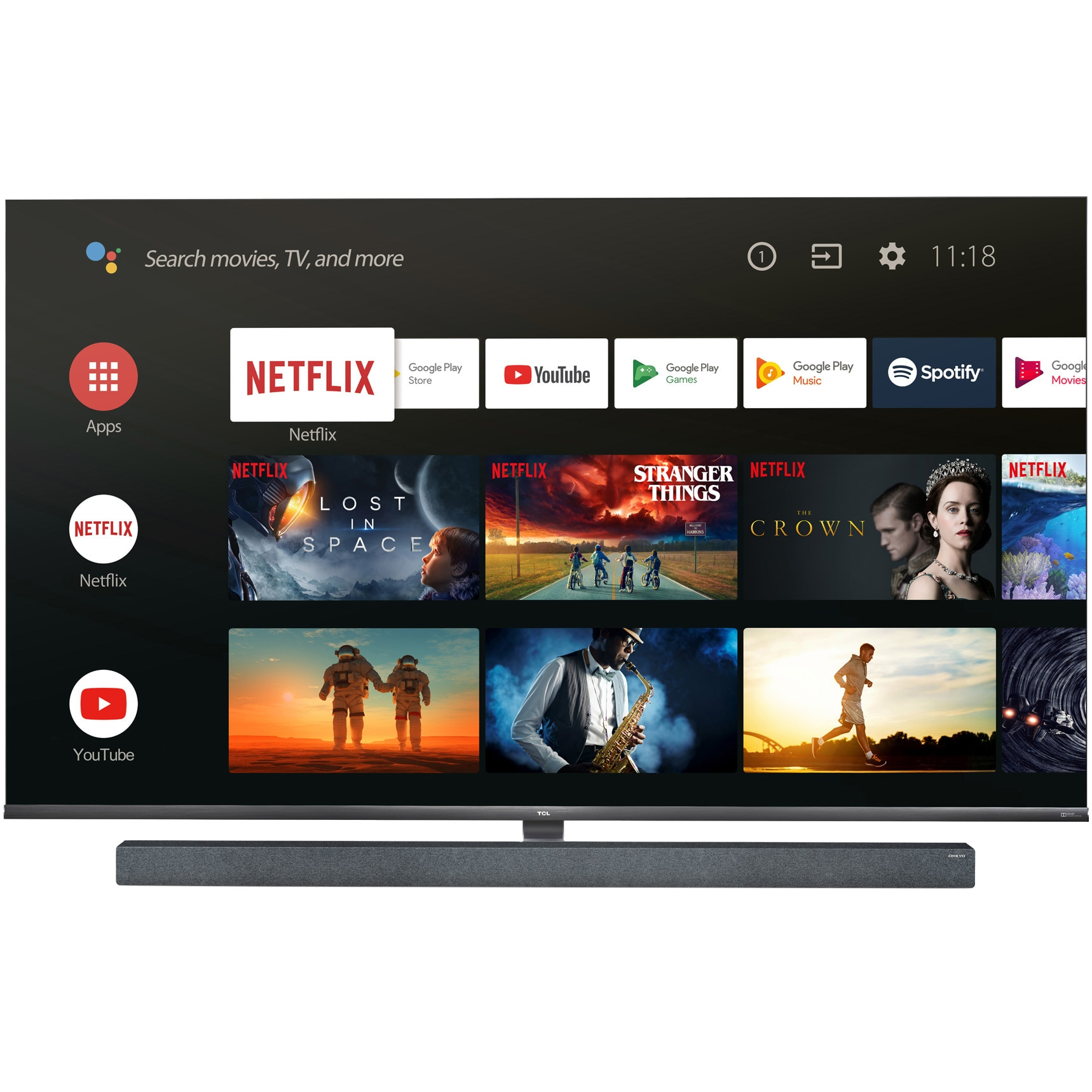 Fotografie Televizor LED Smart Android TCL, 165 cm, 65X10, 4K Ultra HD, Clasa B