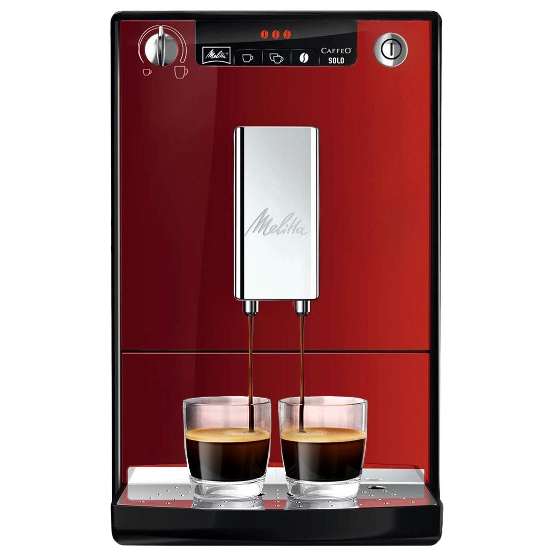 Fotografie Espressor automat Melitta® Solo, 1400W, 15 bari, 1.2l, Rezervor boabe, Slim 20cm, Rosu