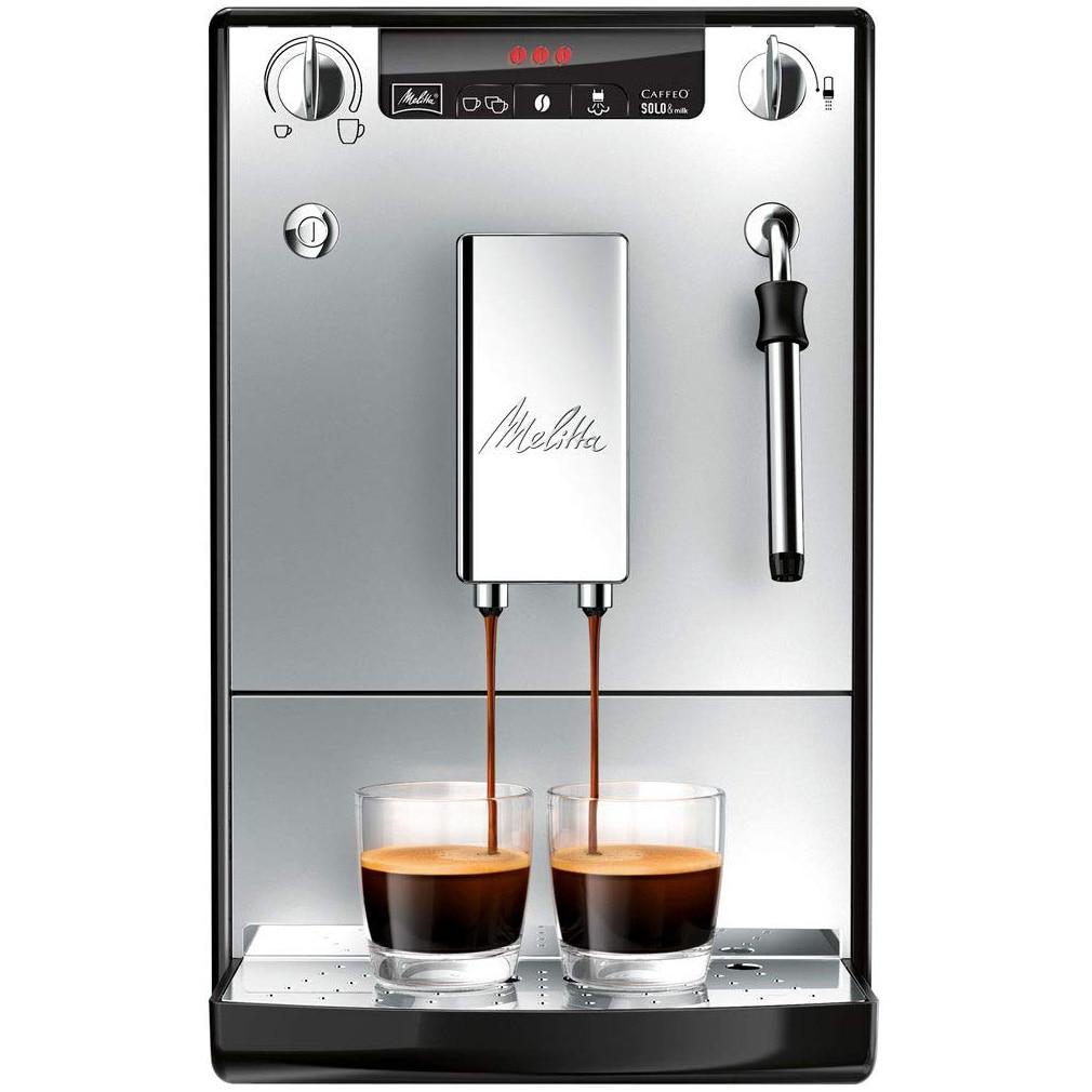 Fotografie Espressor automat Melitta® Solo & Milk, 15 bari, sistem de spumare a laptelui, Silver