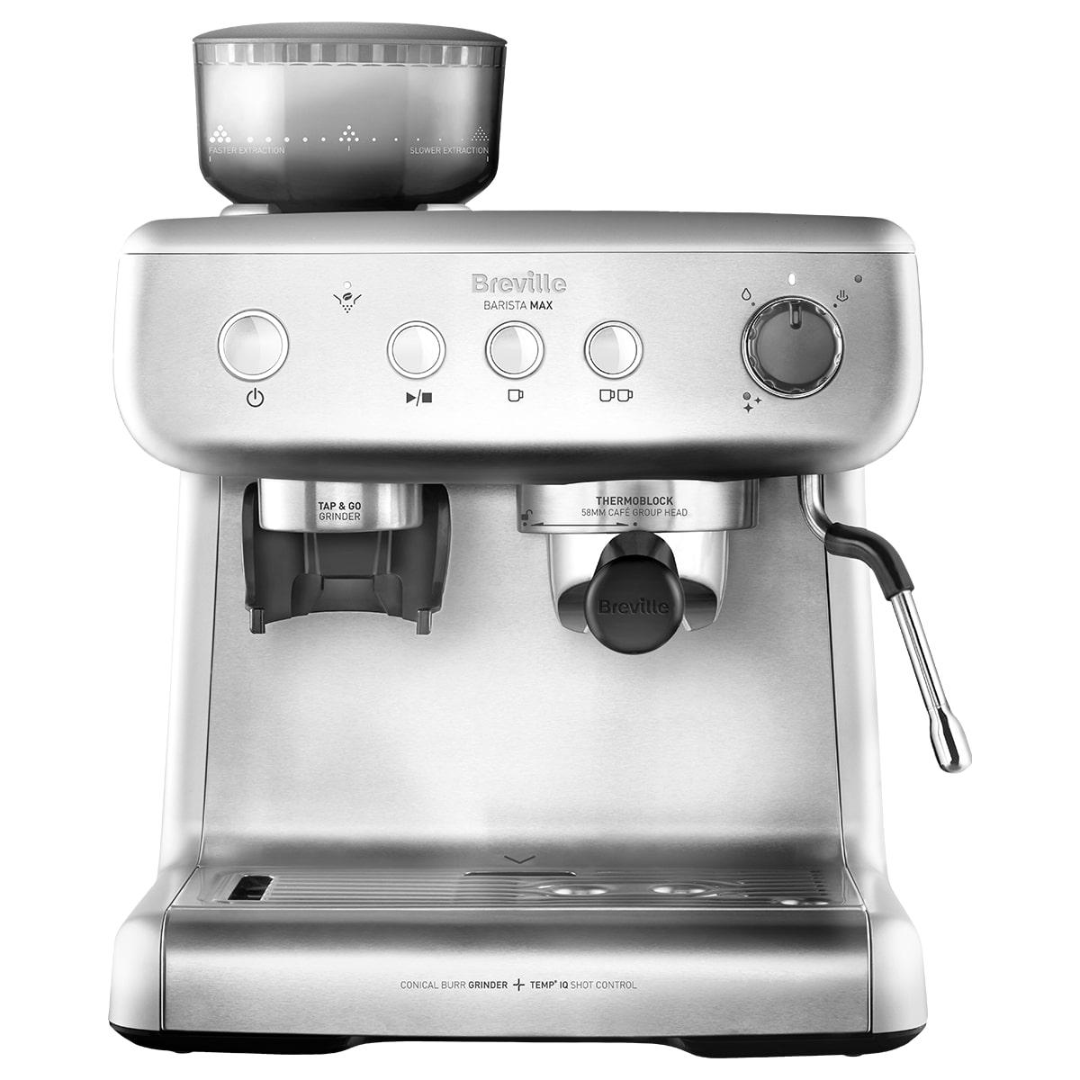 Fotografie Espressor manual Breville Barista Max VCF126X-01, 15 bari, 2.8 l, Recipient detasabil lapte 0.46 l, Silver