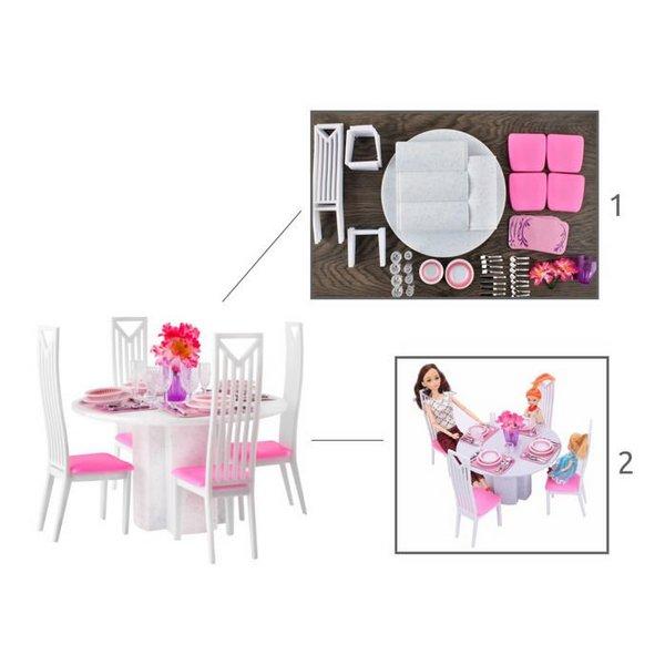 játék ebédlő asztal és szék