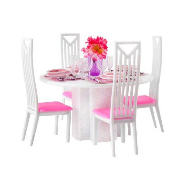 Játék étkezőasztal és szék szett 29 cm es babákhoz