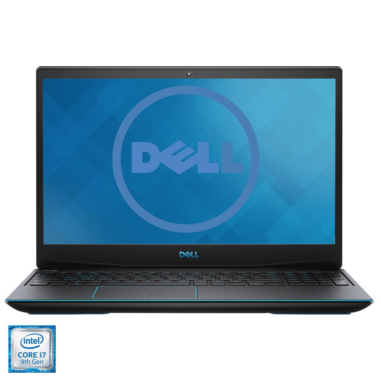 "Fotografie Laptop Gaming Dell Inspiron G3 3590 cu procesor Intel® Core® i7-9750H pana la 4.50 GHz Coffee Lake, 15.6"", Full HD, 16GB, 1TB HDD + 256GB SSD, NVIDIA GeForce GTX 1660 Ti 6GB, Ubuntu, Black"