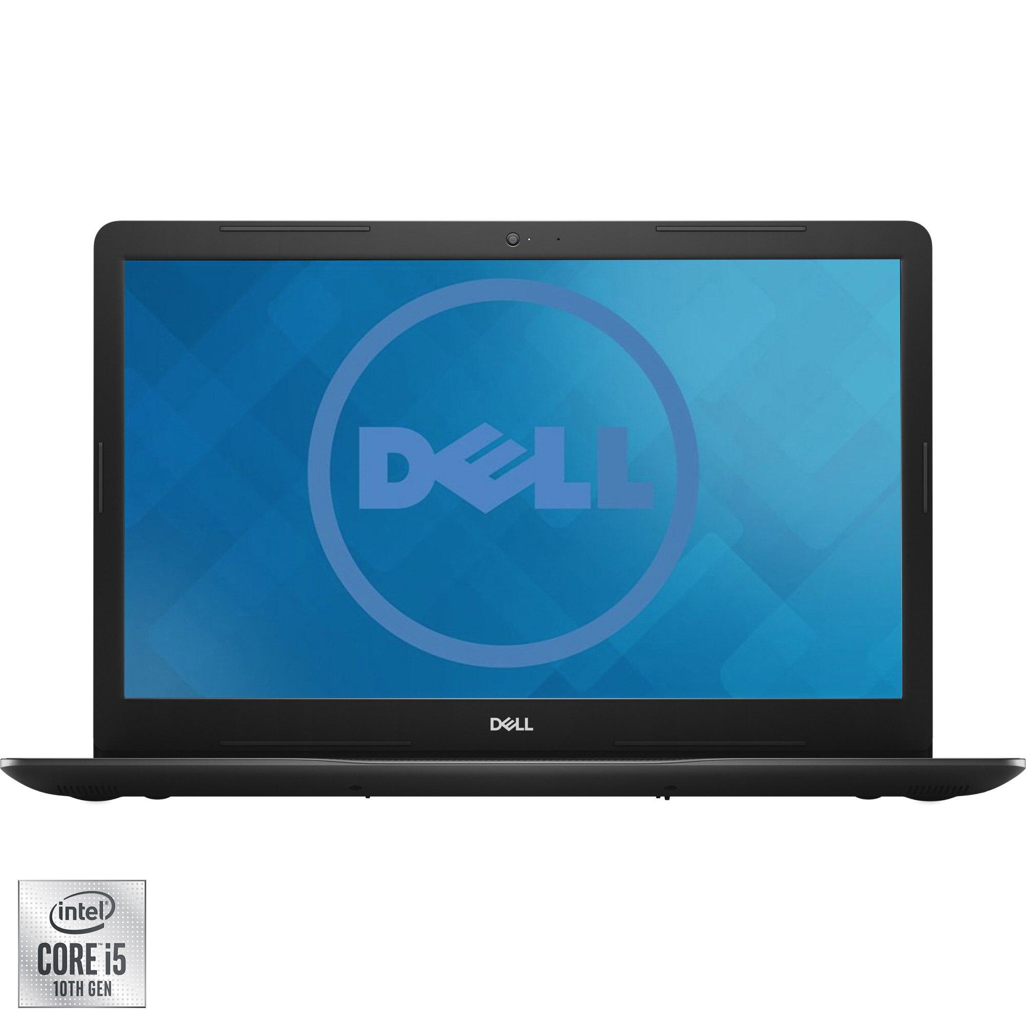 "Fotografie Laptop Dell Inspiron 3793 cu procesor Intel® Core™ i5-1035G1 pana la 3.70 GHz, 17.3"", Full HD, 8GB, 256GB SSD, NVIDIA GeForce MX230, Ubuntu, Black"