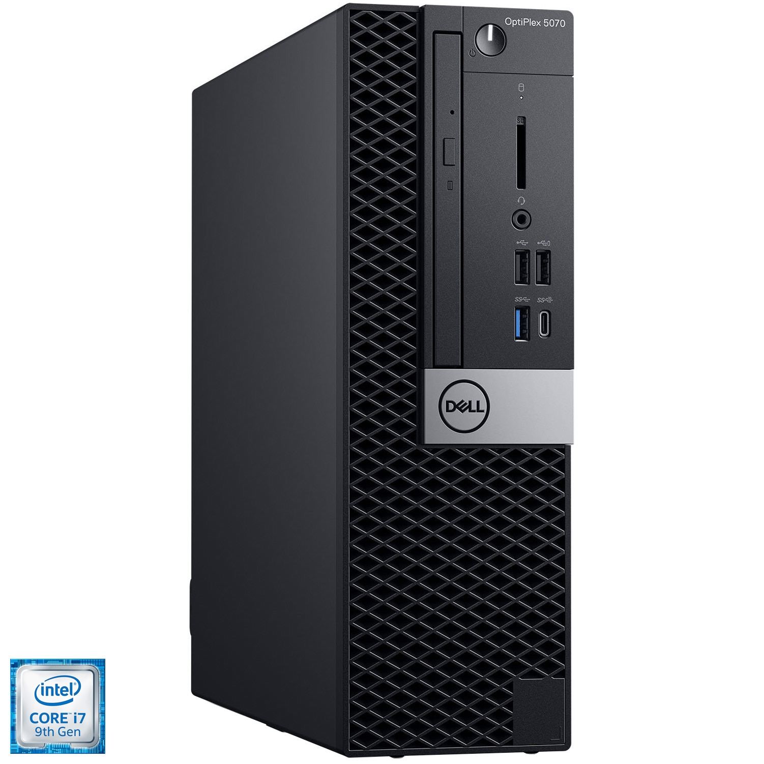 Fotografie Sistem Desktop PC Dell OptiPlex 5070 SFF cu procesor Intel® Core™ i7-9700 pana la 4.70 GHz, Coffee Lake, 16GB DDR4, 256GB SSD, Intel® UHD Graphics 630, Microsoft Windows 10 Pro