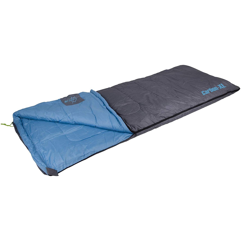 Fotografie Sac de dormit Bo-Camp Carbon 3D hollow fibre, comfort -2º, 220x80cm, Grey/Blue