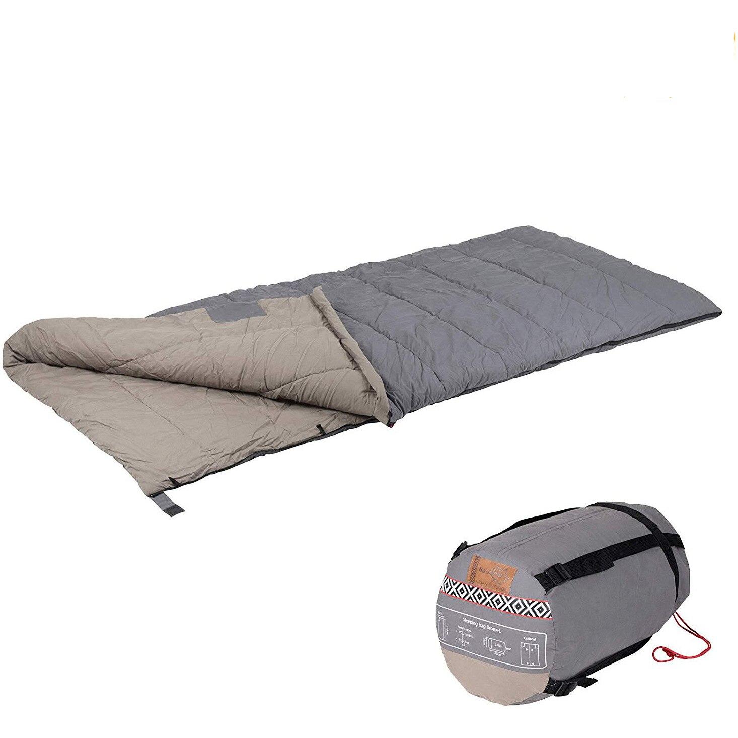 Fotografie Sac de dormit Bo-Camp Bronx 3D hollow fibre fibre, comfort -10º, 215x85cm, Grey