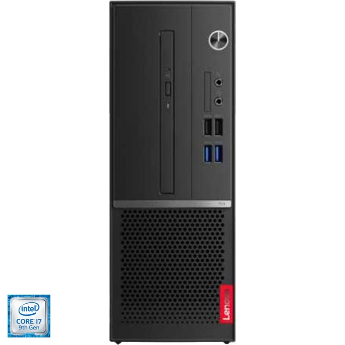 Fotografie Sistem Desktop PC Lenovo V530s cu procesor Intel® Core™ i7-9700 pana la 4.70 GHz, Coffee Lake, 8GB DDR4, 512GB SSD NVMe, DVD-RW, Intel® UHD Graphics 630, Free DOS, Mouse + Tastatura