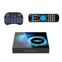 Mini PC Smart TV Box T95, Android 10.0 Allwinner H616 Médialejátszó, Bluetooth , 6K HDR, Netflix + i8 RGB háttérvilágítású billentyűzet