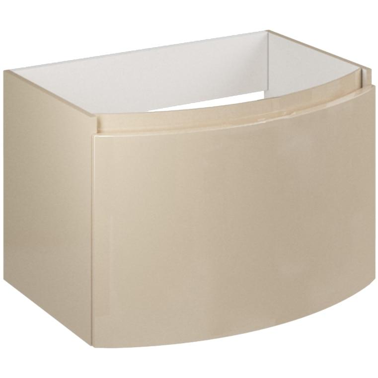 Fotografie Baza mobilier Kring Luna, cu un sertar cu inchidere amortizata, infoliat crema lucios, 61x41x49 cm