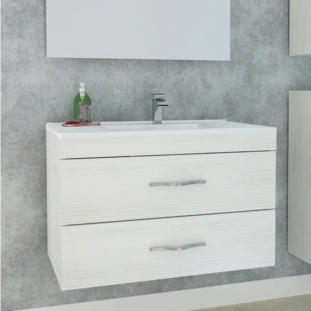 Fotografie Baza mobilier suspendat, cu doua sertare cu inchidere amortizata, Kring Corallo, 80x51x46cm