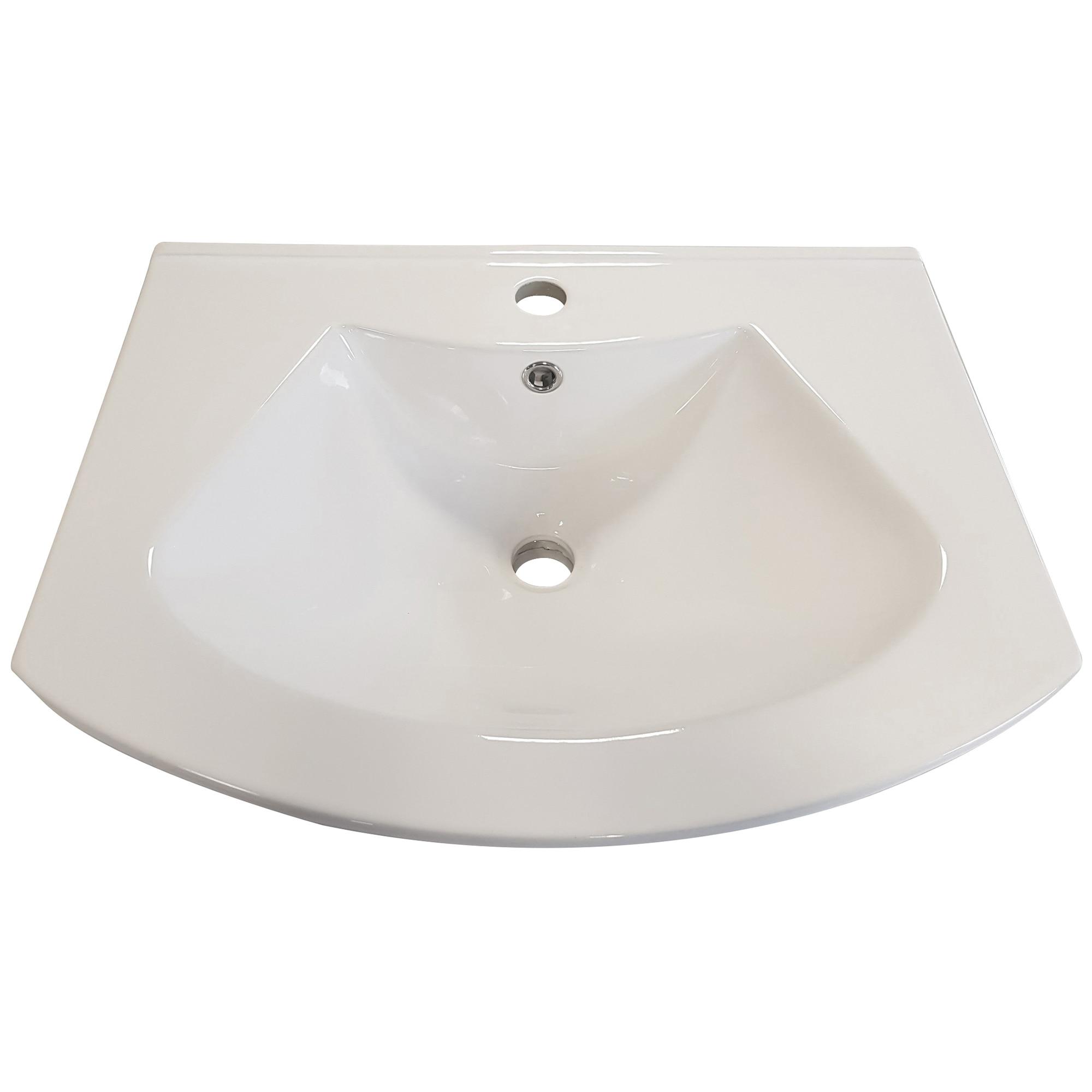 Fotografie Lavoar ceramic Kring Luna, alb, 62x18x49 cm